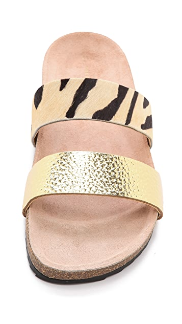 Loeffler Randall Paz Two Band Haircalf Sandals