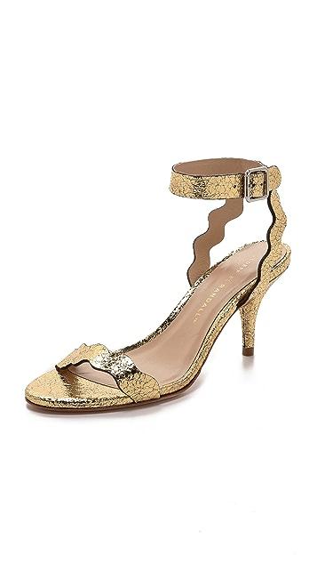 Loeffler Randall Reina Mid Heel Ankle Sandals