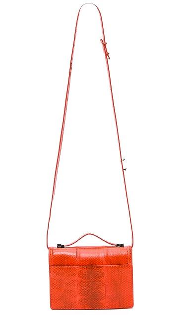 Loeffler Randall Printed Snakeskin Mini Rider Bag