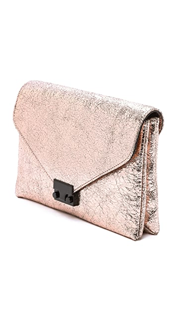 Loeffler Randall Metallic Lock Clutch