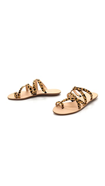 Loeffler Randall Sarie Haircalf Flat Sandals