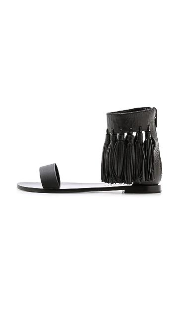 Loeffler Randall Lark Fringe Sandals