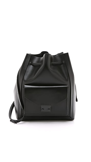 Loeffler Randall Lock Drawstring Bucket Bag