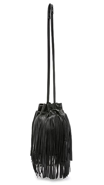 Loeffler Randall Fringe Industry Bucket Bag
