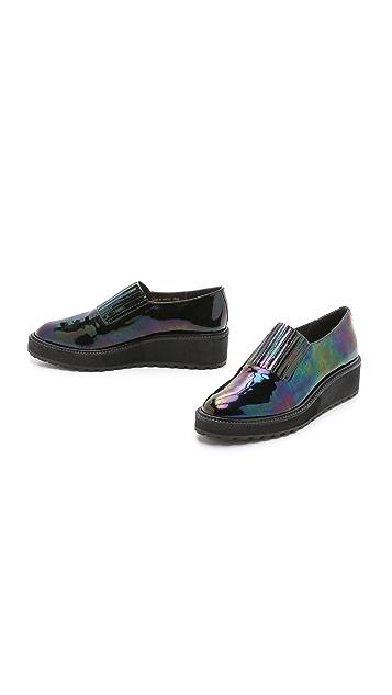 Loeffler Randall Ria Iridescent Platform Loafers