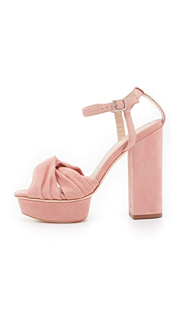 Loeffler Randall Arbella Suede Platform Sandals