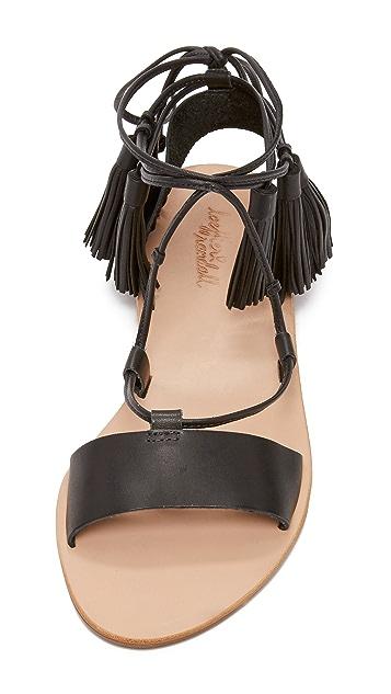 Loeffler Randall Saffron Tassel Lace Up Sandals