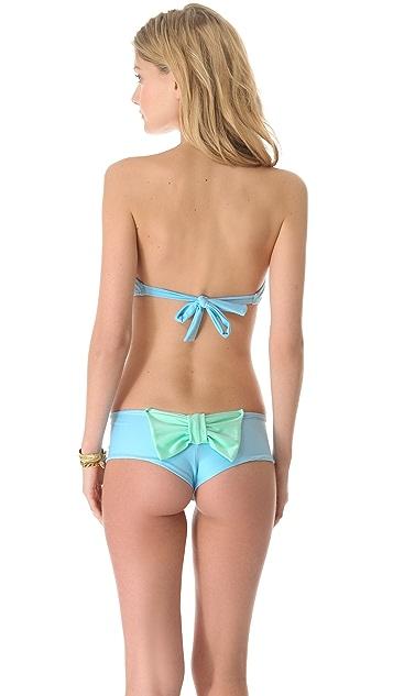 Lolli Are You Happy Bow Bandeau Bikini Top