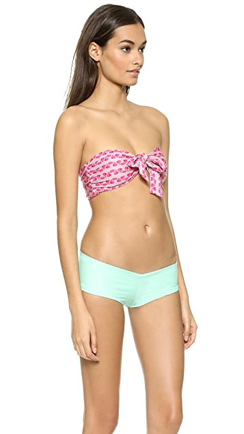 Lolli Melon Tie Bikini Top