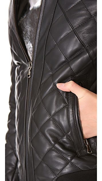 Lot78 Quilted Bomber Jacket