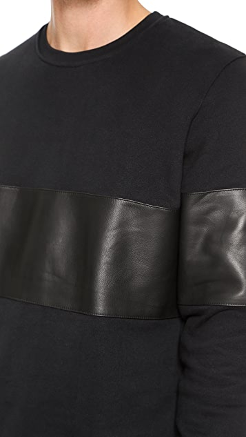 Lot78 Leather Patch Pullover
