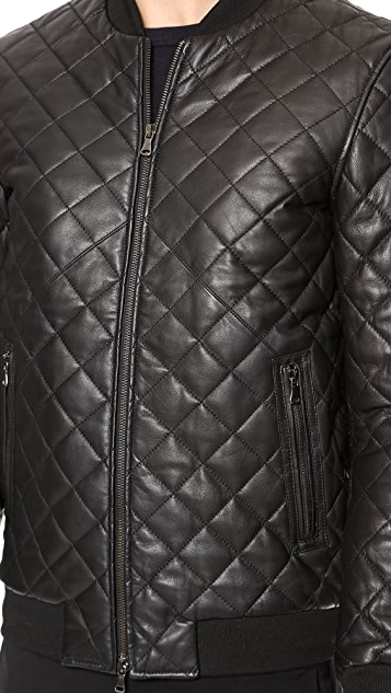 Lot78 Quilted Leather Bomber