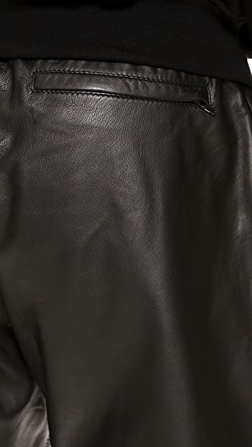 Lot78 Leather Sweatpants