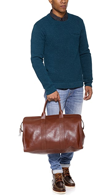 Lotuff Leather Duffel Travel Bag