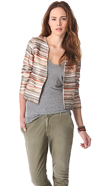 Love Sam Embroidered Stripe and Sequin Jacket