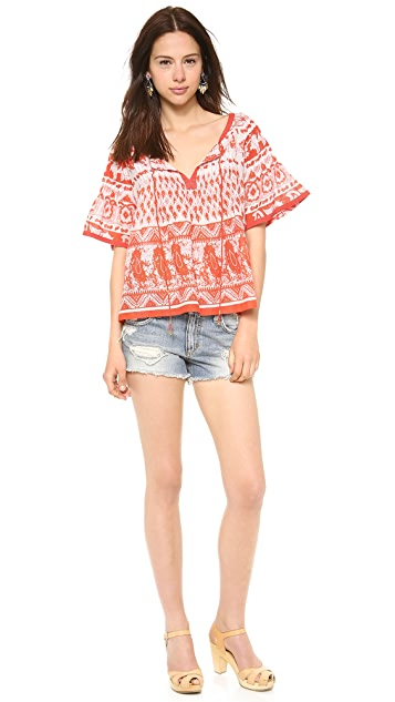 Love Sam Floral Print Blouse
