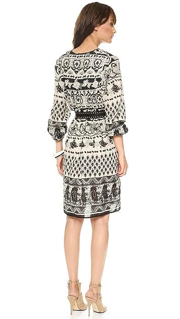 Love Sam Ethnic Floral Print Dress