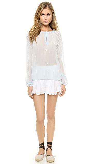 Love Sam Elena Peasant Blouse