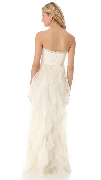 Love, Yu Wanderlust Strapless Gown