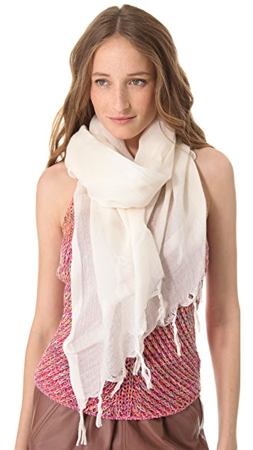 Love Quotes Knotted Tassel Scarf