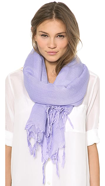 Love Quotes Knotted Tassel Linen Scarf