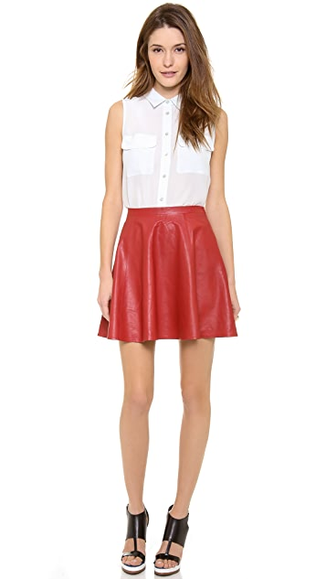 Lovers + Friends Monica Rose Charlie Leather Skirt
