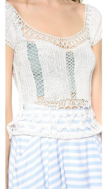 Lovers + Friends Calisto Crochet Top