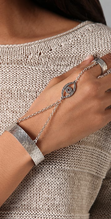 Low Luv x Erin Wasson Evil Eye Hand Bracelet