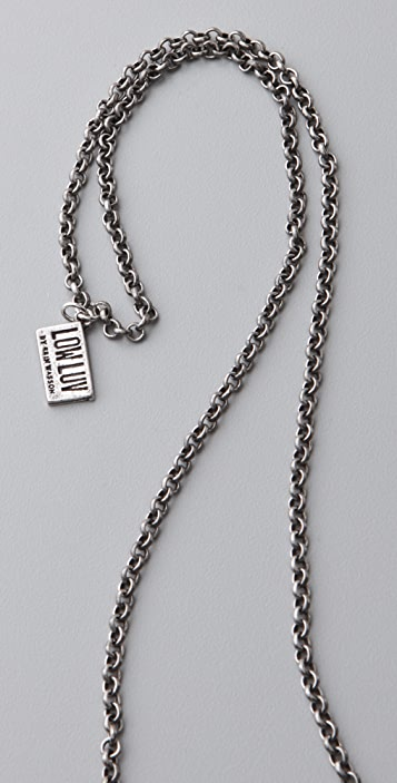 Low Luv x Erin Wasson Hammered Crescent Moon Pendant Necklace
