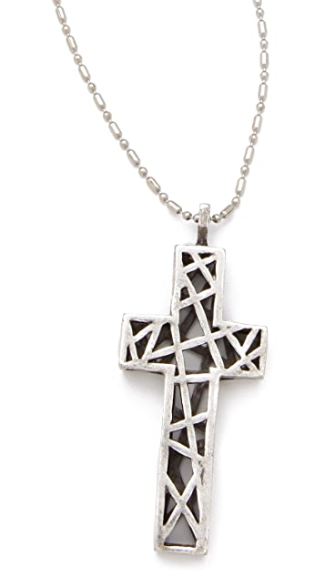 Low Luv x Erin Wasson Cage Cross Necklace
