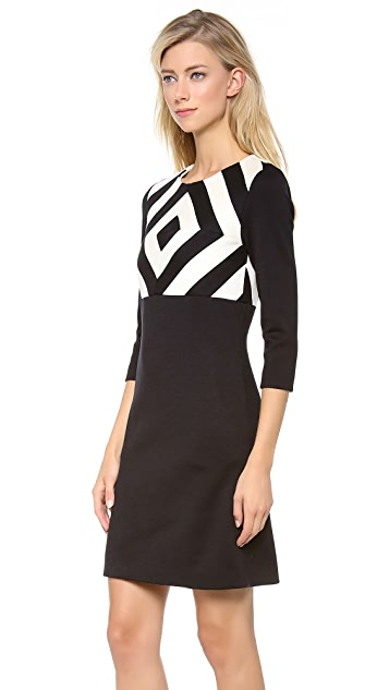 Lisa Perry Concentric Squares Dress