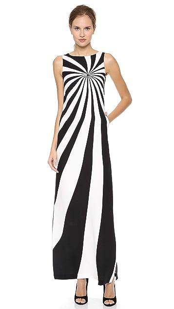 Lisa Perry Optical Maxi Dress