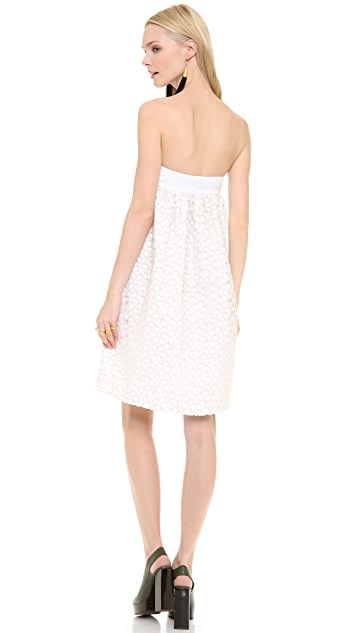 Lisa Perry Strapless Daisy Dress