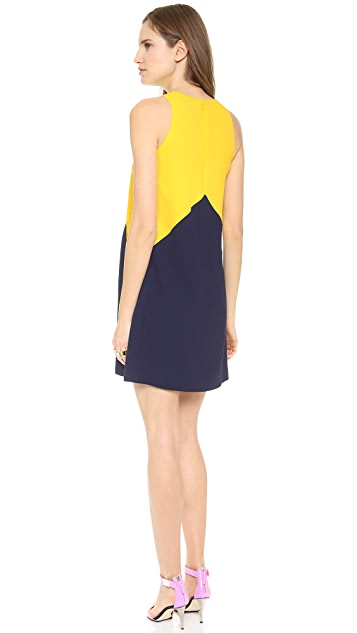 Lisa Perry Crepe Pieces Dress