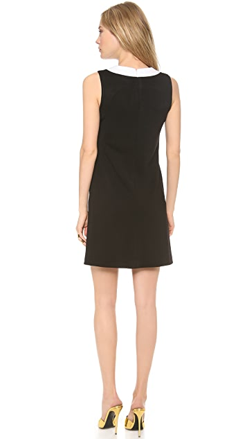 Lisa Perry Trompe l'Oeil Collar Dress