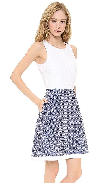 Lisa Perry Waisted Mini Dots Dress