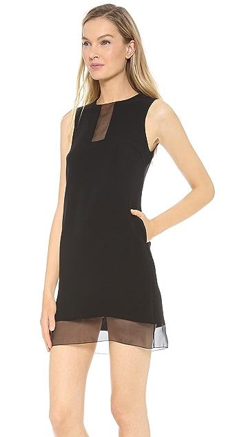 Lisa Perry Sheer Cutout Dress