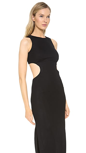 Lisa Perry Circle Cutout Gown