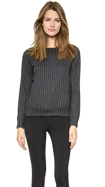 Lisa Perry Wide Pinstripe Sweatshirt