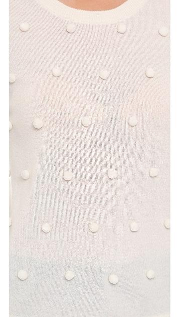 Lisa Perry Pom Pom Cashmere Sweater