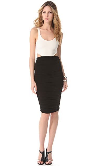 LRK Ruched Cutout Dress
