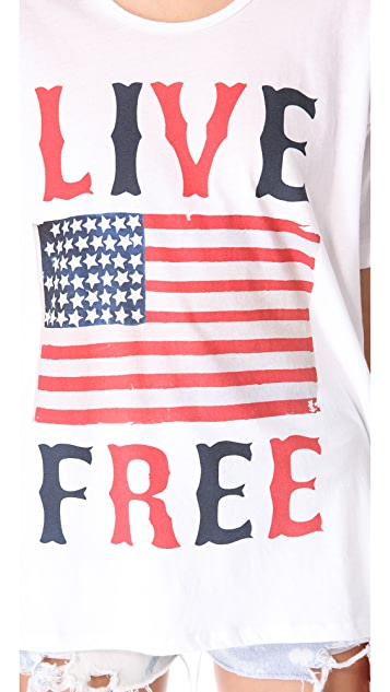 The Laundry Room Live Free Oversized Tee