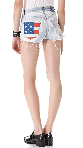 The Laundry Room American Flag Stud Shorts