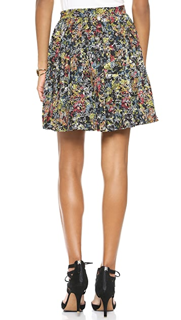 Love Sadie Pleated Floral Skirt