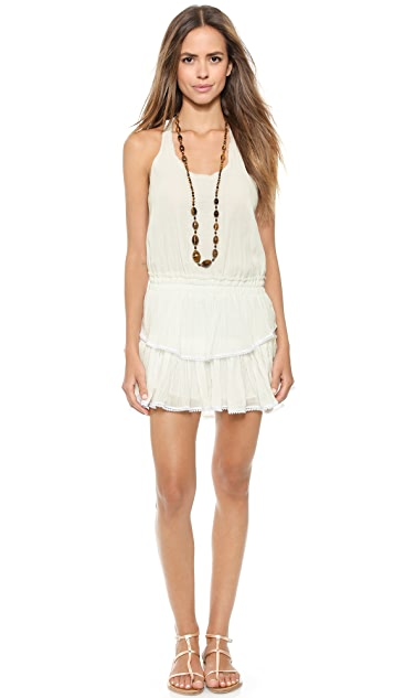 LOVESHACKFANCY Racer Back Mini Dress