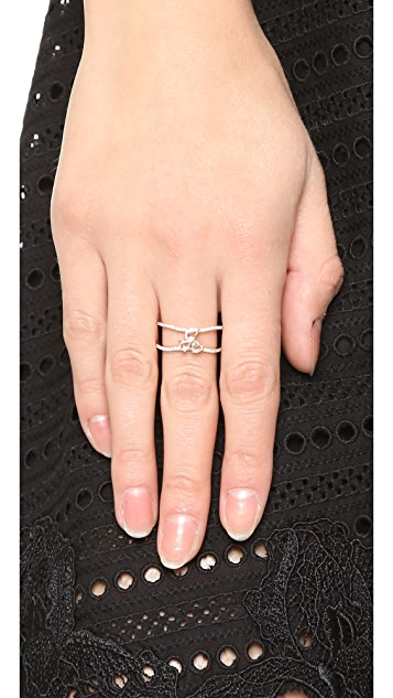 Luna Skye Diamond Cluster Double Band Ring