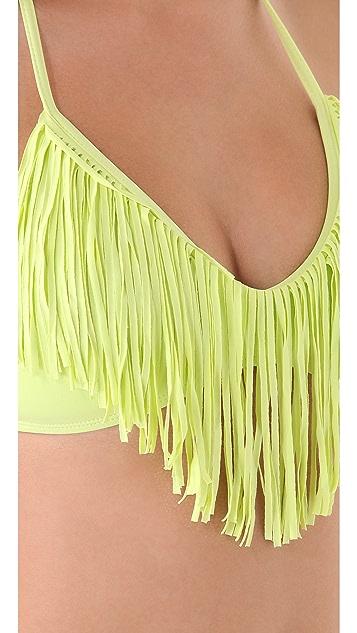 L*Space Audrey Halter Bikini Top