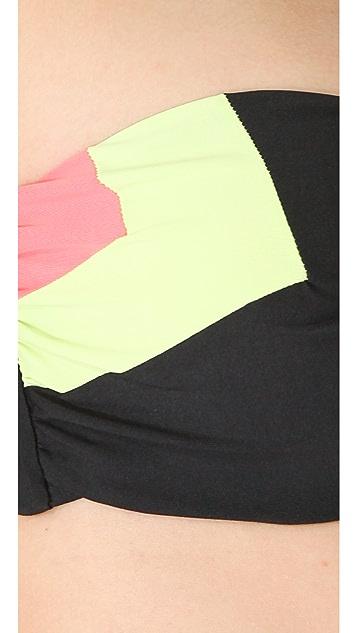 L*Space Colorblocked Neo Bandeau Bikini Top
