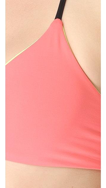 L*Space Colorblocked Reversible Strap Back Bikini Top