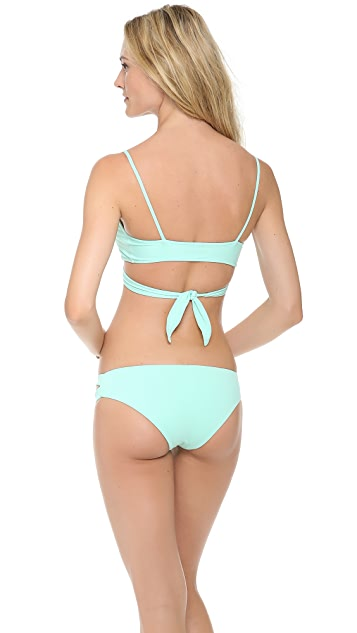 L*Space Sweet & Chic Solids Chloe Wrap Bikini Top
